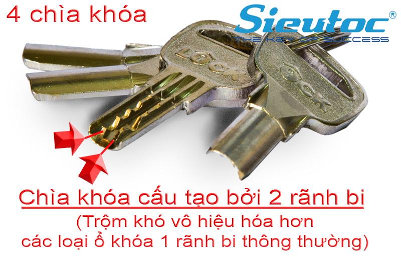 Chìa khóa 2 rãnh bi của KB-106C