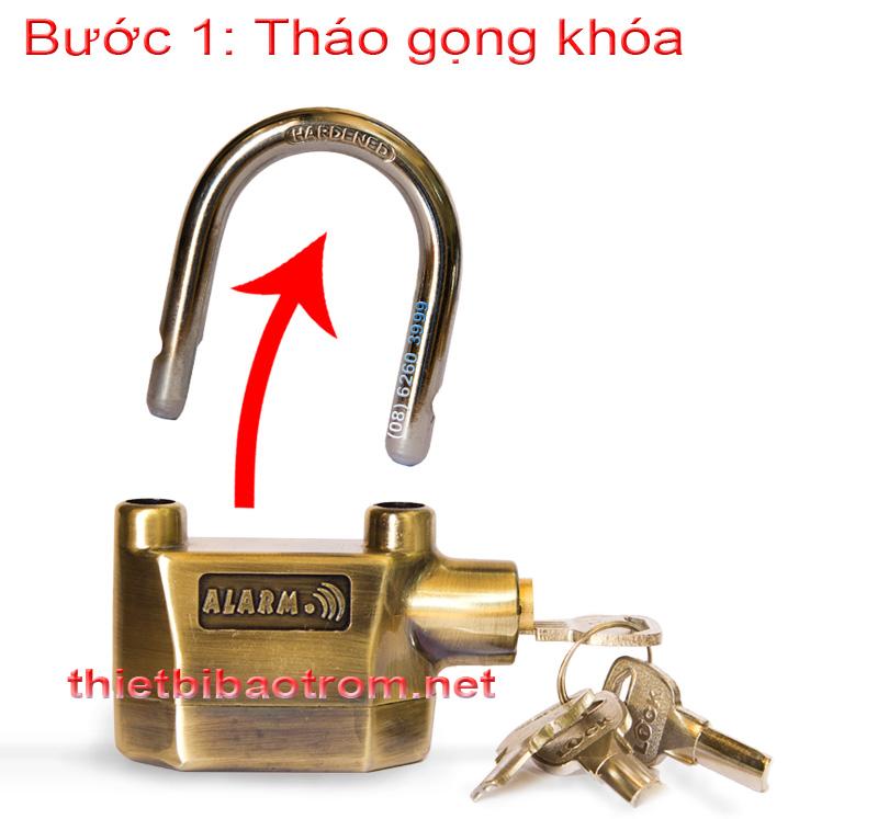 Cách thay pin của ổ khóa chống trộm KB-106C