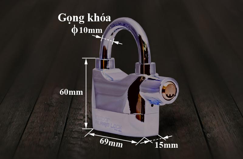 Kích thước của ổ khóa KB-101A