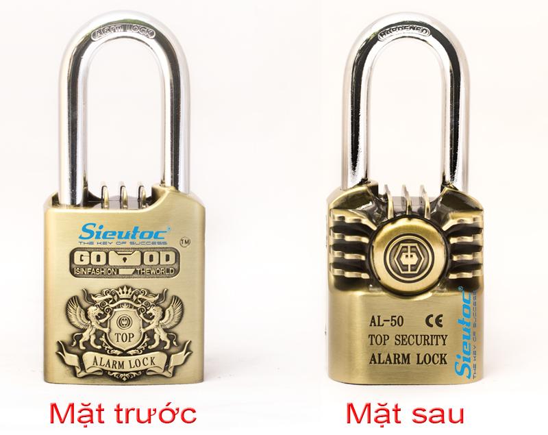 Ổ khóa chống trộm GOOD AL-50 mặt trước và sau
