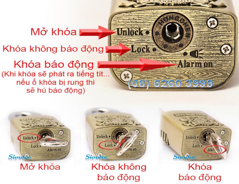 Cách khóa của ổ khóa chống trộm AL-50