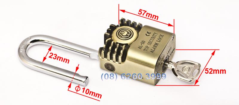 Kích thước của khóa chống trộm AL-50