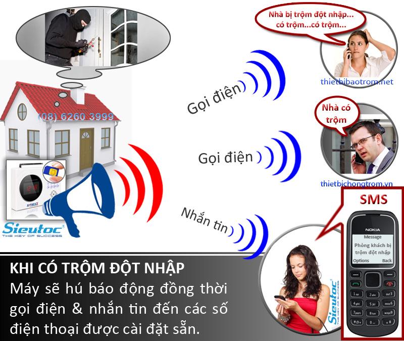 Báo trộm qua điện thoại di động