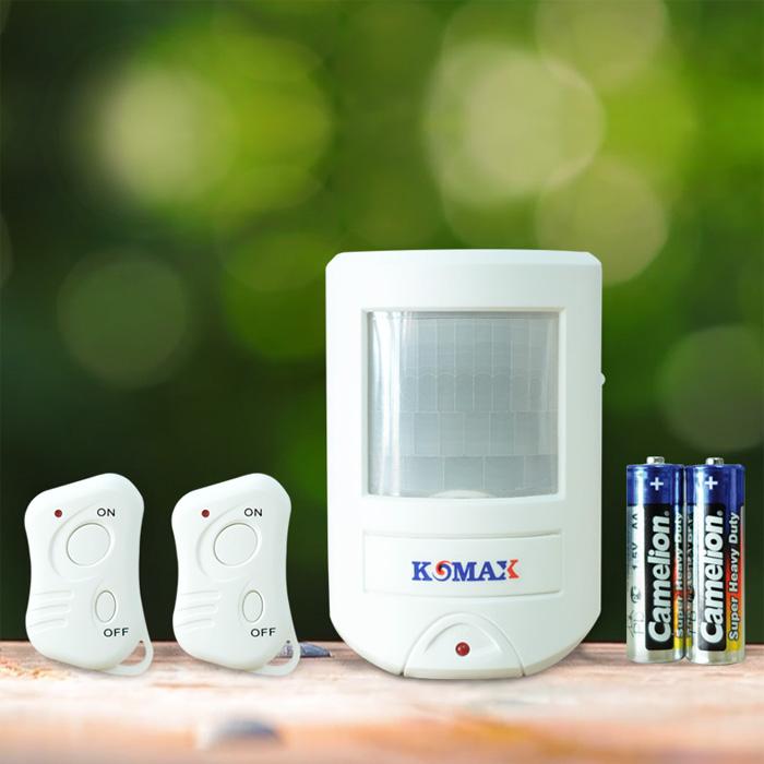 Báo trộm hồng ngoại cao cấp dùng pin KM-X20 2 remote