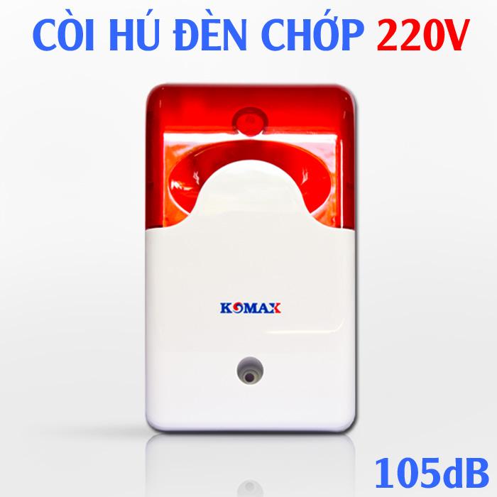 Còi hú 220V KM-A09 kèm đèn chớp