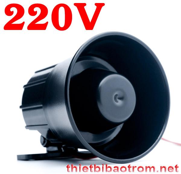 Còi hú 220V nhỏ gọn KM-628