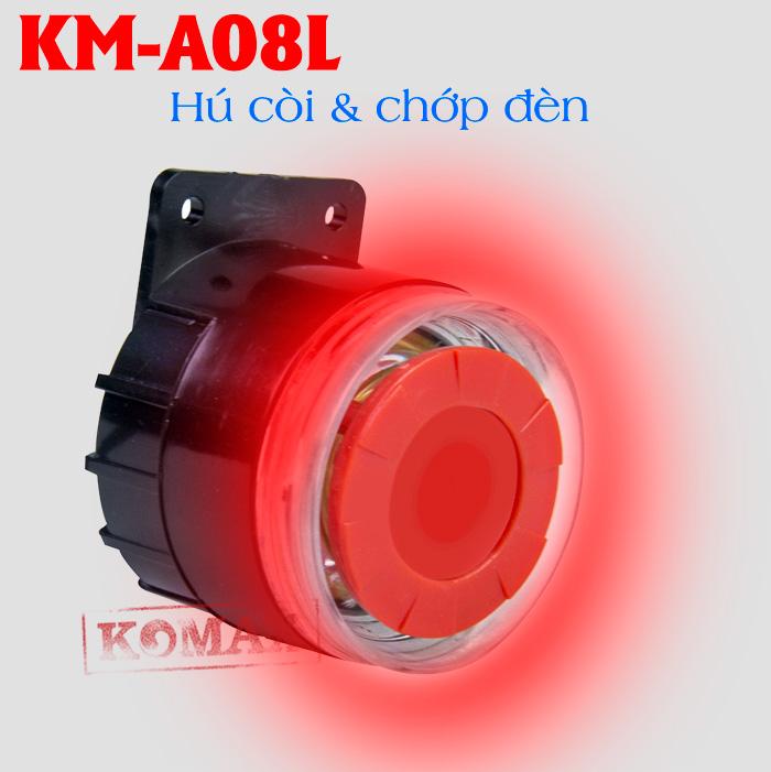 Còi báo động 12v kèm đèn KM-A08L