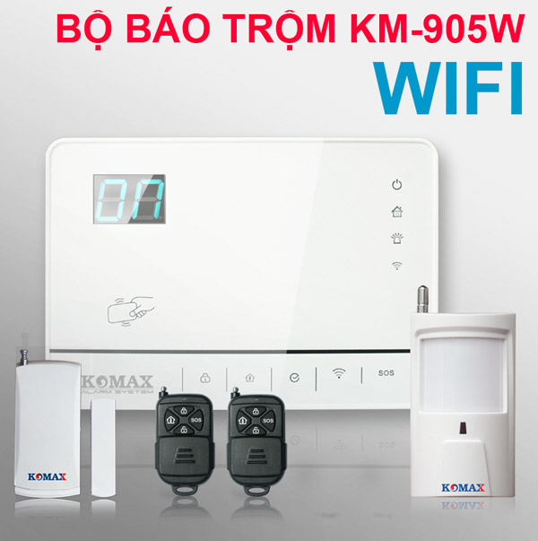 Hệ thống trộm Komax dùng Wifi KM-905W