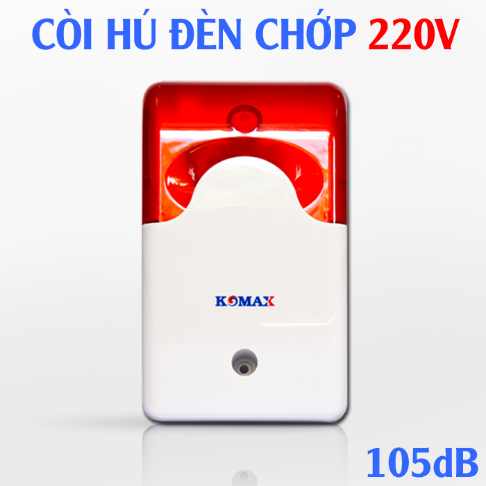 Còi hụ điện 220V KM-A09 có đèn flash