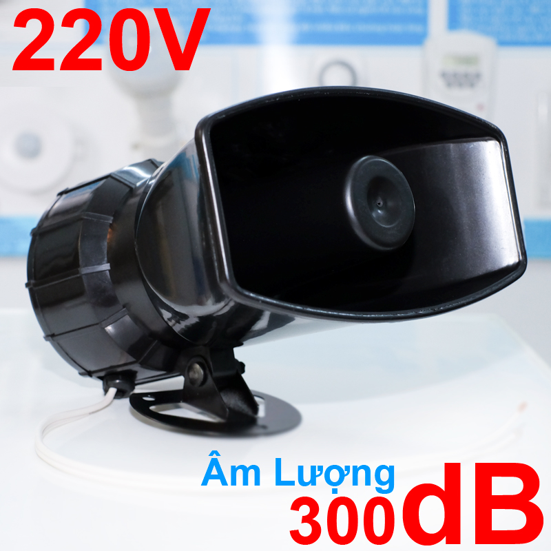 Còi hú 220V KM-AC100W 300db