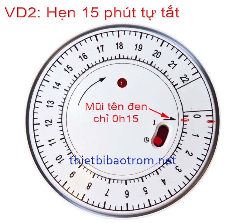 Cách hẹn giờ tắt của TG-01-D