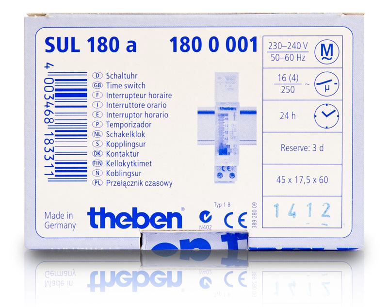 Hình vỏ hộp Theben Sul 180a